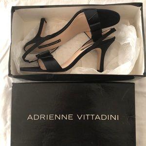 Adrienne Vittadini Satin Frana Slingback heels.